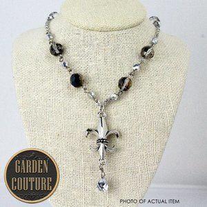 """NWT 18"""" Fleur-De-Lis Link & Bead Necklace"""
